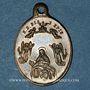 Monnaies Trois Epis. Souvenirs du sanctuaire (19e). Laiton. Ovale, avec son œillet. 17,01 x 24,34 mm