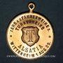 Monnaies Wittenheim. Alsatia. Tournoi de gymnastique et consécration du drapeau. 1909. Médaille cuivre doré.