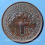 Monnaies Afrique Equatoriale Française. 1 franc 1943SA. Prétoria