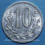Monnaies Algérie, Chambre de Commerce d'Alger, 10 cent 1916 aluminium