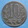 Monnaies Algérie, Chambre de Commerce d'Alger, 10 cent 1916 fer