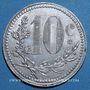 Monnaies Algérie, Chambre de Commerce d'Alger, 10 cent 1921 aluminium