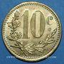 Monnaies Algérie, Chambre de Commerce d'Alger, 10 cent 1921, essai, laiton
