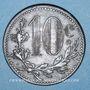 Monnaies Algérie. Chambre de Commerce d'Alger. 10 centimes 1916. Fer