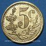 Monnaies Algérie, Chambre de Commerce d'Alger, 5 cent 1921, essai, laiton