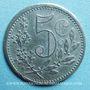Monnaies Algérie, Chambre de Commerce d'Alger, 5 centimes 1917 zinc