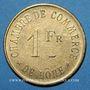 Monnaies Algérie, Chambre de Commerce de Bône, 1 franc n.d., laiton