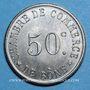 Monnaies Algérie, Chambre de Commerce de Bône, 50 cent n.d., essai en maillechort