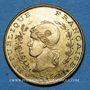 Monnaies Algérie, Chambre de Commerce de Bône, 50 cent n.d., laiton
