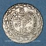 Monnaies Algérie. Mahmoud II (1223-1255H = 1808-1839). 1/6 boudjou 1245H (= 1830). Alger