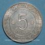 Monnaies Algérie. République. 5 dinars 1972/1962. 10e anniversaire de l'indépendance et FAO