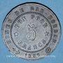 Monnaies Algérie. Société des Mines et Fonderies de Gar-Rouban. 5 francs 1865