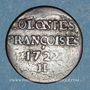Monnaies Amérique. Louis XV (1715-1774). 9 deniers des colonies françises 1722H. La Rochelle