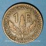 Monnaies Cameroun. Territoires sous mandat français (1919-1945). 1 franc 1925