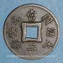 Monnaies Indochine française. 1 sapèque 1900 A