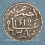 Monnaies Maroc. Abdoul Aziz I (1311-1326H). 1/2 dirham 1312H. Paris