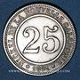 Monnaies Nouvelle Calédonie, Société Anonyme Le Nickel, 25 cmes 1881