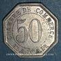 Monnaies Sénégal. Dakar. Chambre de Commerce. 50 centimes 1920. Frappe médaille