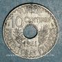 Monnaies Tunisie. Ahmed II, bey (1348-1361H = 1929-1942). 10 centimes 1941