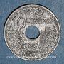 Monnaies Tunisie. Ahmed II, bey (1348-1361H = 1929-1942). 10 centimes 1942