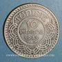 Monnaies Tunisie. Ahmed II, bey (1348-1361H = 1929-1942). 10 francs 1934
