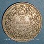 Monnaies Tunisie. Ahmed II, bey (1348-1361H = 1929-1942). 10 francs 1942