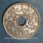 Monnaies Tunisie. Ahmed II, bey (1348-1361H = 1929-1942). 5 centimes 1938