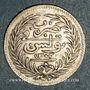 Monnaies Tunisie. Ali III, bey (1299-1320H = 1882-1902). 1/2 piastres ou 8 kharoubs 1303H (= 1886)