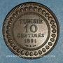 Monnaies Tunisie. Ali III, bey (1299-1320H = 1882-1902). 10 centimes 1308H (= 1891)