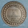 Monnaies Tunisie. Ali III, bey (1299-1320H = 1882-1902). 5 centimes 1308H (= 1891)