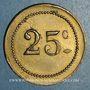 Monnaies Tunisie. Bizerte. W. G. Bizerte. 25 centimes. n. d.