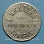 Monnaies Tunisie. Entrepreneur A. Graziani. 50 centimes. n. d.