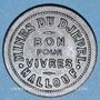 Monnaies Tunisie, Mines du Djebel-Hallouf, 5 (cmes). Inédit !