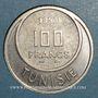 Monnaies Tunisie. Mohammed al -Amine, bey (1362-76H). 100 francs 1950. Essai