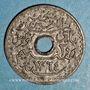 Monnaies Tunisie. Mohammed al -Amine, bey (1362-76H). 20 centimes 1945