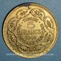 Monnaies Tunisie. Mohammed al -Amine, bey (1362-76H). 5 francs 1946