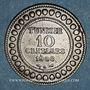 Monnaies Tunisie. Mohammed En-Naceur (1324-1340H). 10 centimes 1908A