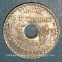Monnaies Tunisie. Mohammed En-Naceur (1324-1340H). 25 centimes 1919