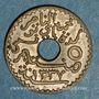 Monnaies Tunisie. Mohammed En-Naceur (1324-1340H). 5 centimes 1919