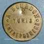 Monnaies Tunisie. Tunis. A. Bourdon. Entrepreneur. 25 centimes