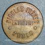 Monnaies Tunisie. Tunis. Entreprise Nicolas Frères. 10 centimes. n. d.