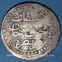 Monnaies Algérie. Mahmoud II (1223-1255H = 1808-1839). 1/8 boudjou 1244H (= 1828), Alger