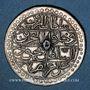 Monnaies Algérie. Mahmoud II (1223-1255H = 1808-1839). 1 boudjou 1239H (= 1823). Alger