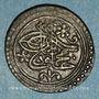 Monnaies Algérie. Ottomans. Mahmoud II (1223-1255H). 1/6 boudjou 1247H. Constantine