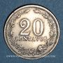 Monnaies Argentine. République. 20 centavos 1897