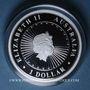 Monnaies Australie. Elisabeth II (1952- /). 1 dollar 2017. Série Opale Australienne - Année du Coq