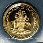 Monnaies Bahamas. 1 cent 1974