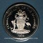 Monnaies Bahamas. 5 dollars 1974. Argent