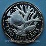 Monnaies Barbade. 2 dollars 1973