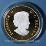 Monnaies Canada. 10 dollars 2016 Emblèmes du Canada - Inukshuk. Argent 999,9 /1000. Plaqué or. 15,87 g.